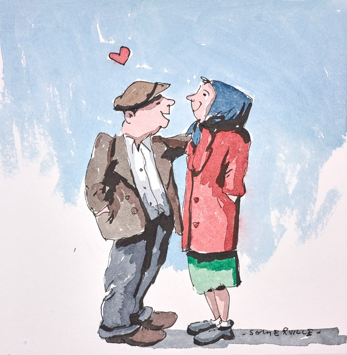 There's Only You by george somerville -  sized 8x8 inches. Available from Whitewall Galleries